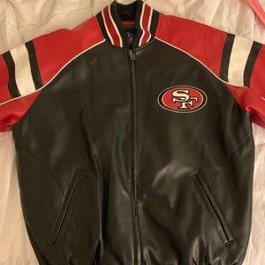 San Francisco 49ers Leather Jacket Large Like New